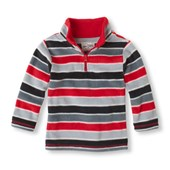 Striped Half-Zip Microfleece Top