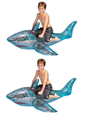 "72"" Inflatable Ride-On Shark 2-Pack"