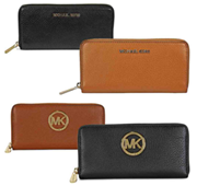 Michael Kors Bedford / Fulton Leather Zip Around Continental Wallet