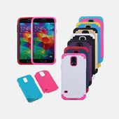 Samsung Galaxy S5 Dual Hard Rubberized Hybrid Case