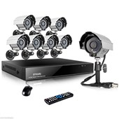 8CH Network DVR Outdoor 600TVL Home CCTV Surveillance Security Camera System 1TB