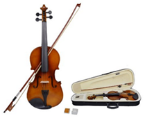 4/4 Full Size Natural Acoustic Violin Fiddle with Case Bow Rosin