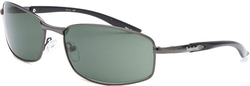Timberland TB7112-08N Unisex Gunmetal Rectangle Sunglasses