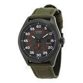 Citizen Eco Drive Black Dial Green Nylon Strap Mens Watch BV1085-22H