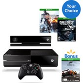 Xbox One + Kinect Console w/ Forza 5 Download and Bonus Choice of Game