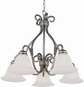 Stewart 5-Light Pewter Incandescent Ceiling Chandelier