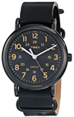 "Timex Unisex T2P4949J ""Weekender"" Watch with Black Leather Band"