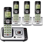 Vtech CS6729-4 DECT 6.0 Cordless Answering System With 4 Handsets and Caller ID